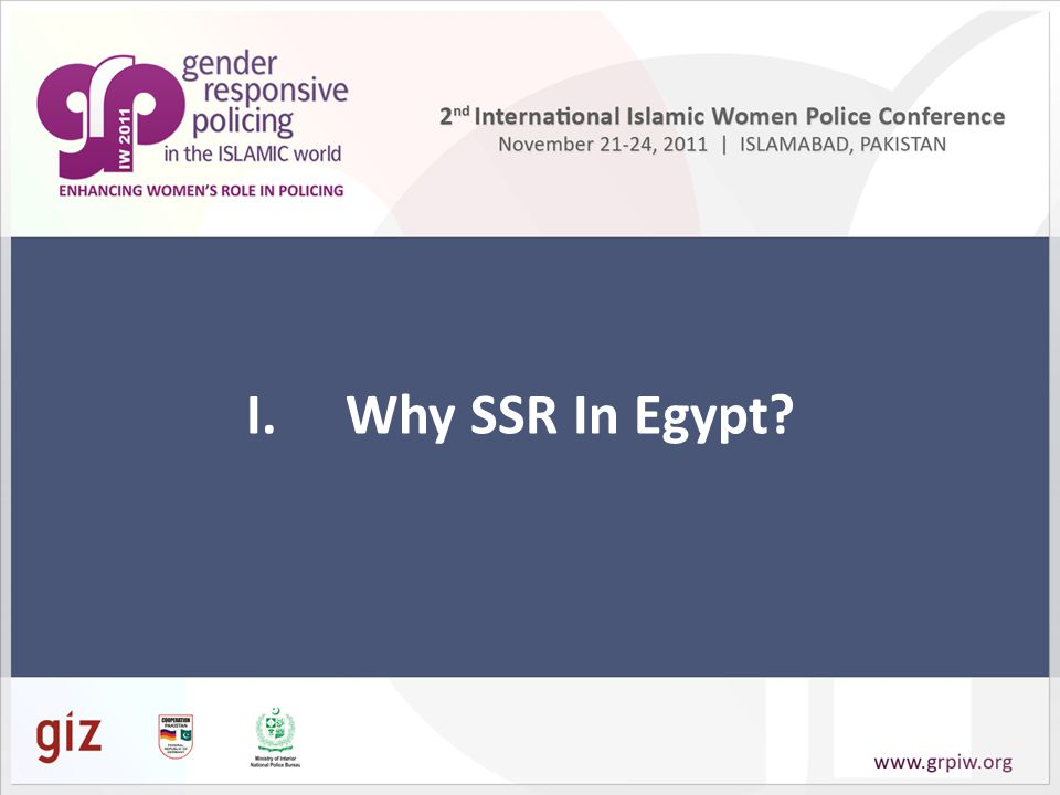 I.Why SSR In Egypt