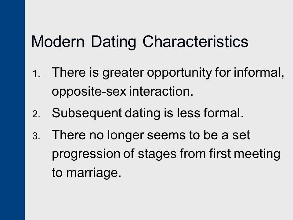 Modern Dating Characteristics 1.