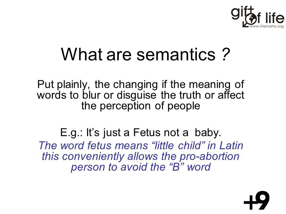 What are semantics .