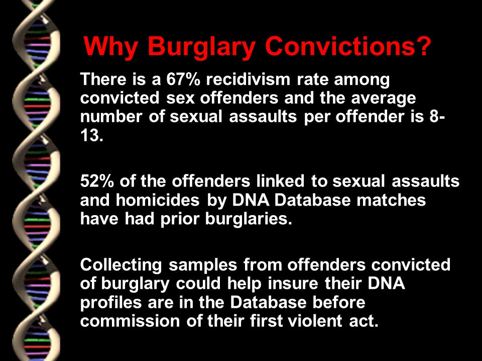 Why Burglary Convictions.
