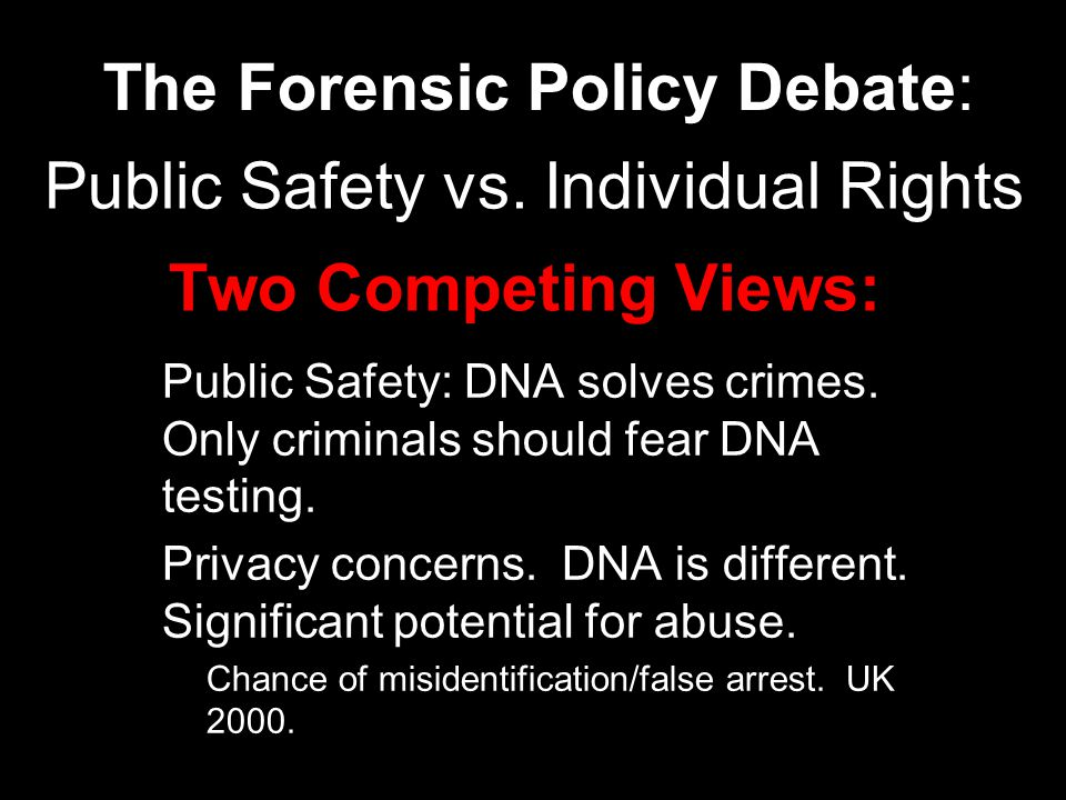 Forensic Bias.1. The forensic laboratory works for whom.