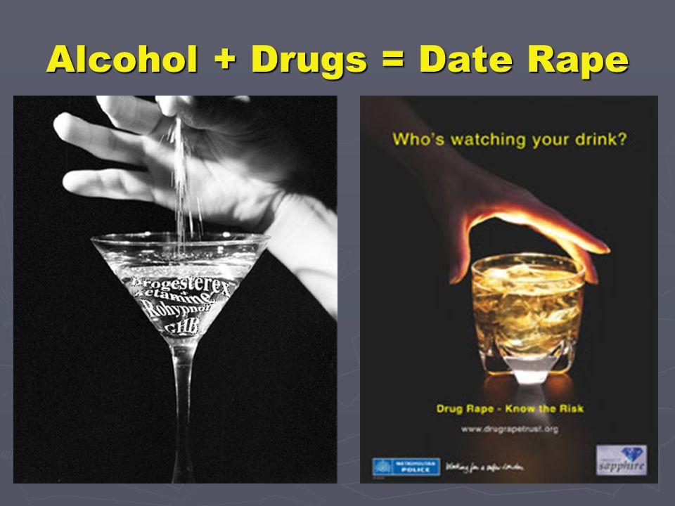 Alcohol + Drugs = Date Rape