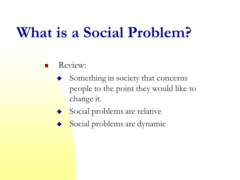 What is a Social Problem.