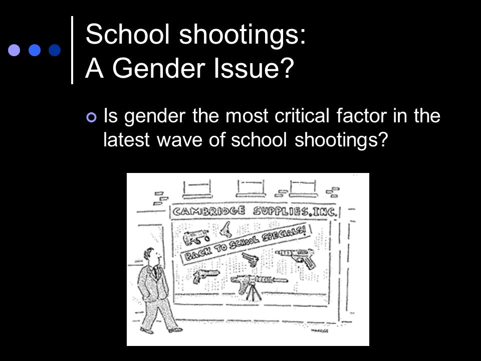 School shootings: A Gender Issue.