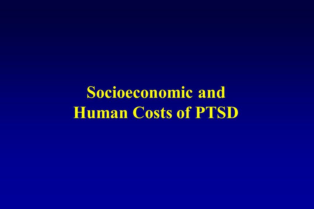Socioeconomic and Human Costs of PTSD