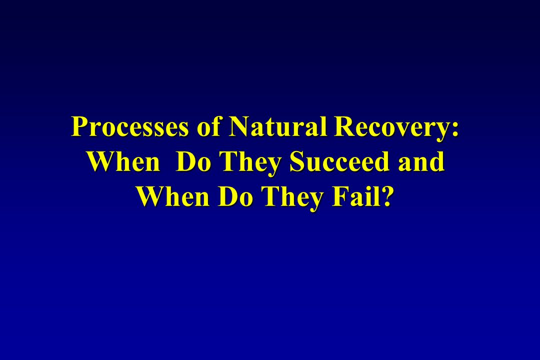 Processes of Natural Recovery: When Do They Succeed and When Do They Fail