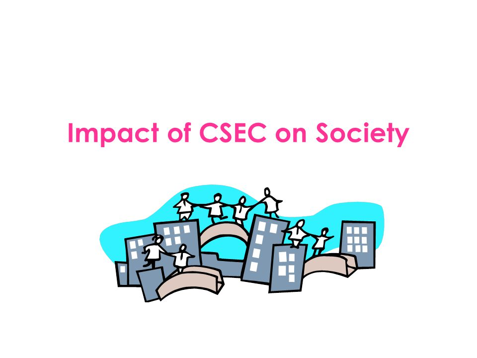 Brainstorming Questions: Who is effected by CSEC.