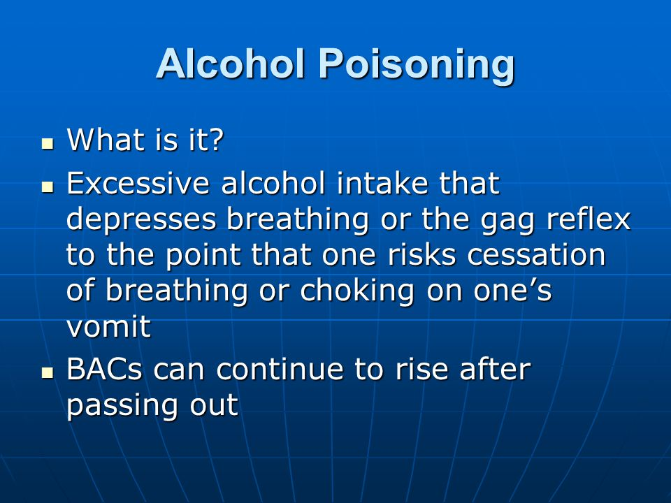 Alcohol Poisoning What is it. What is it.