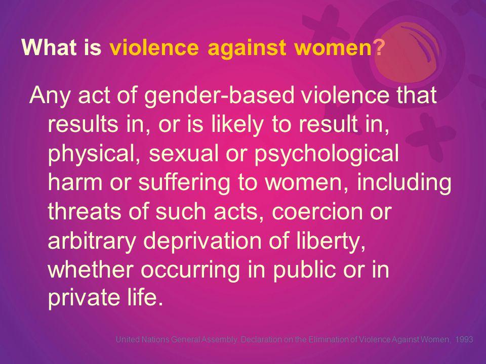 Women face an epidemic of violence everyday.Amnesty International.