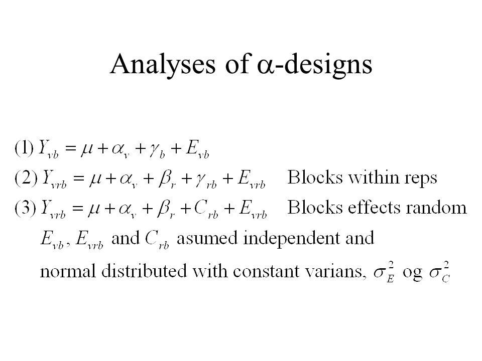 Analyses of  -designs