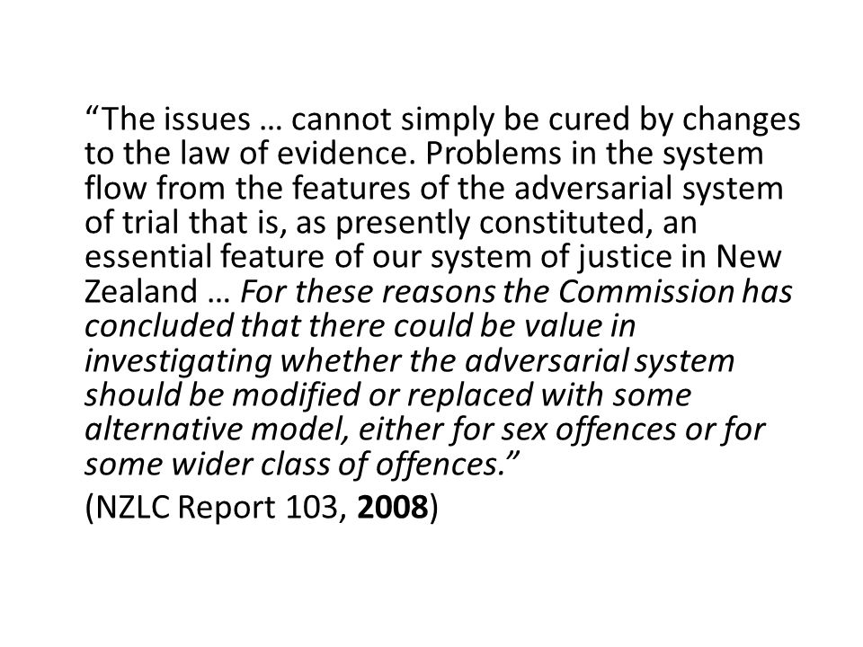 I suggest therefore that if most women are afraid today to make a complaint to the police in cases of rape – and I believe they are – they will continue to be afraid even if this [evidence law] amendment … is passed… We should look at the whole law and see if we need a fundamental alteration in the way we deal with rape cases. (NZPD, 1976)