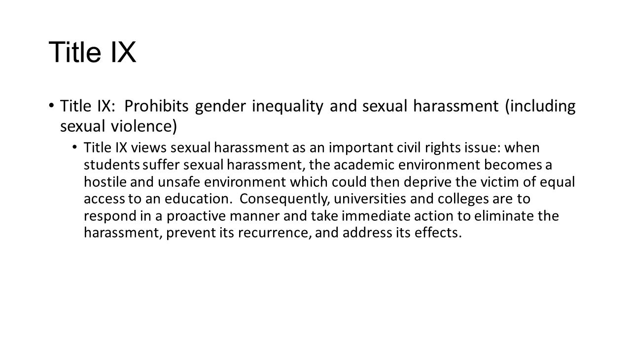 Campus Sexual Violence Elimination Act or Campus SaVE Act The Campus SaVE Act is the law to Title IX In 2013, The U.S.