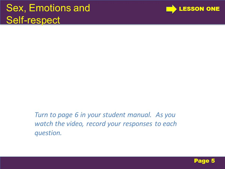 Take a moment to record responses to the discussion questions on page 6.