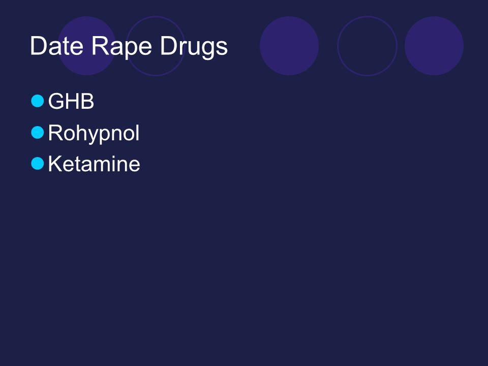 Date Rape Drugs GHB Rohypnol Ketamine