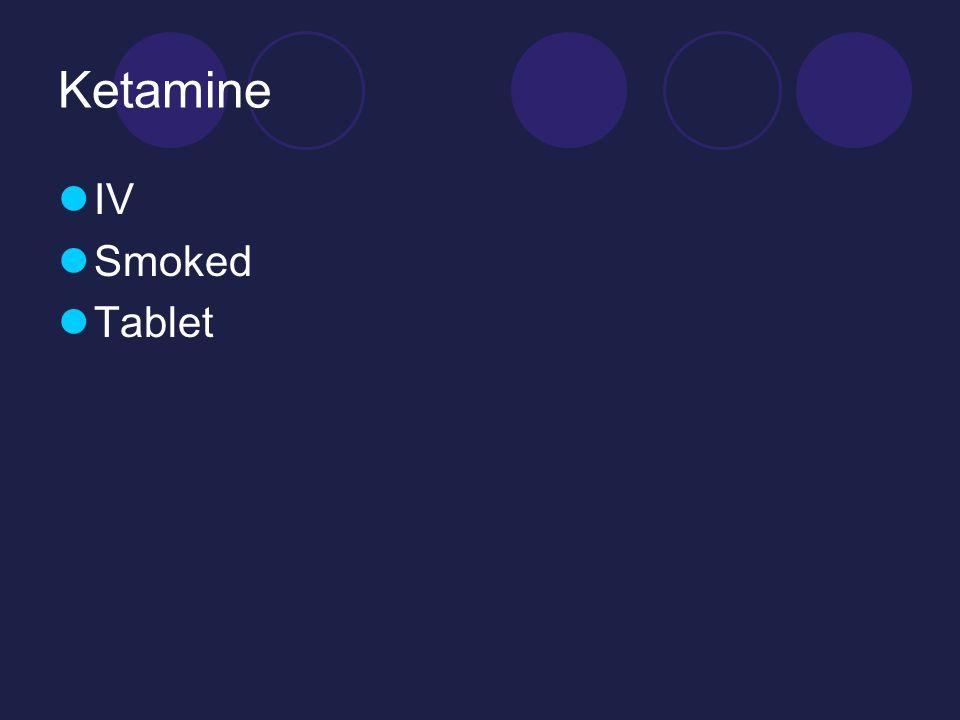 Ketamine IV Smoked Tablet