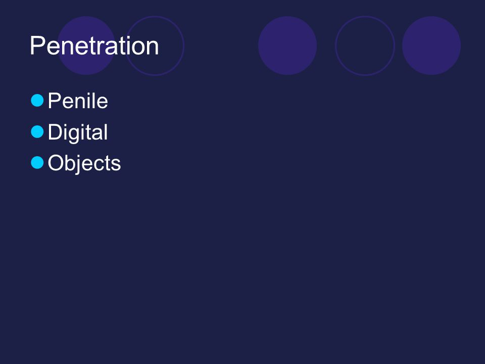 Penetration Penile Digital Objects