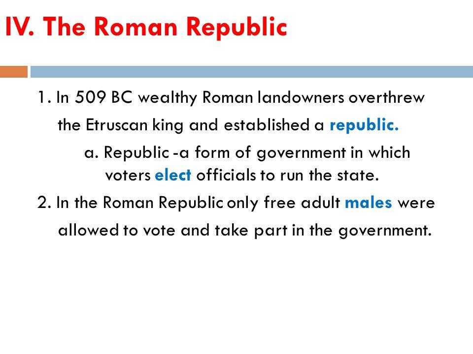 IV. The Roman Republic 1.