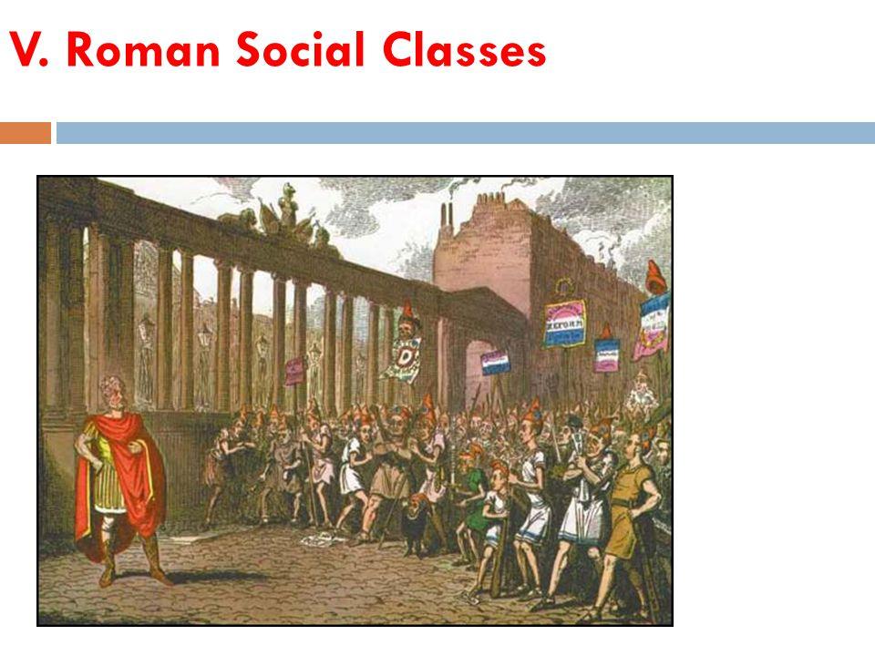 V. Roman Social Classes