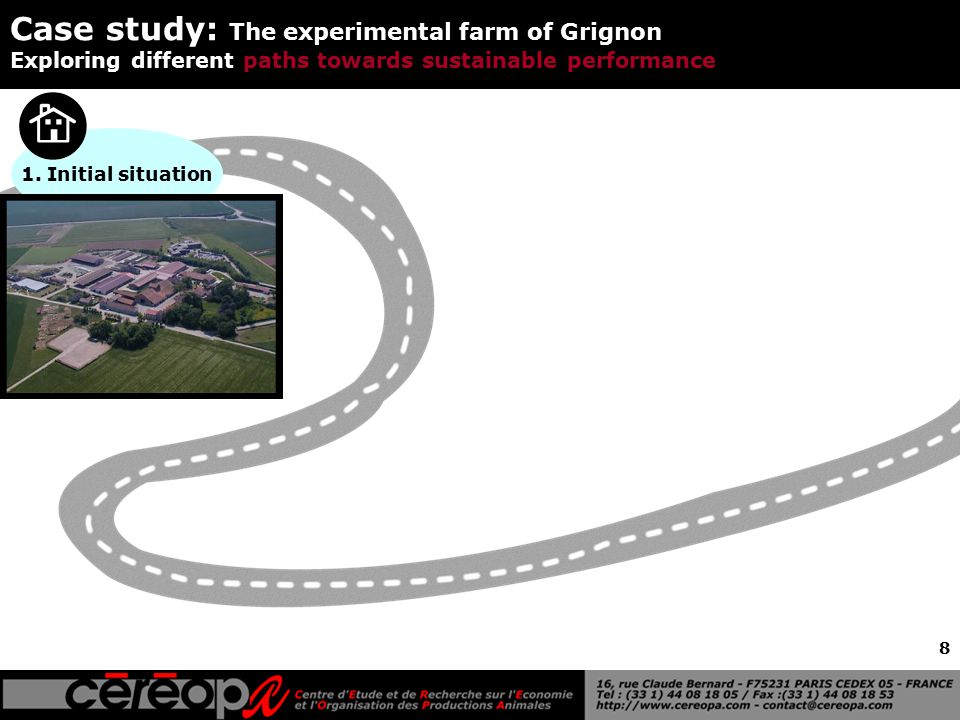 8 Case study: The experimental farm of Grignon Exploring different paths towards sustainable performance 1. Initial situation