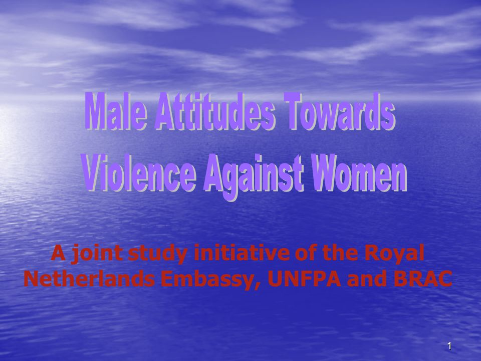 1 A joint study initiative of the Royal Netherlands Embassy, UNFPA and BRAC