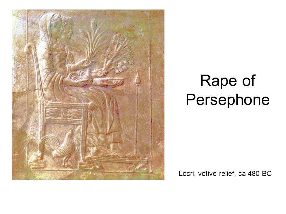 Rape of Persephone Locri, votive relief, ca 480 BC