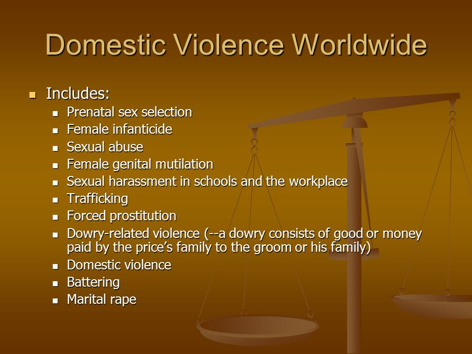 IPV: Victimization The National Crime Victimization Survey found that 85% of IPV victims were women (Rennison 2003).