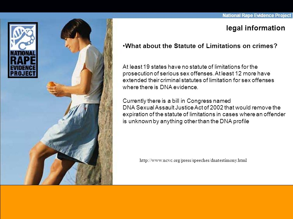 legal information What about the Statute of Limitations on crimes.