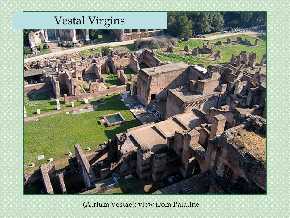 (Atrium Vestae): view from Palatine Vestal Virgins