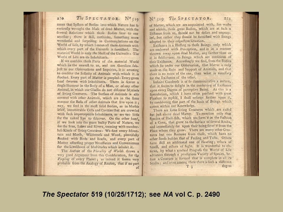 The Spectator 519 (10/25/1712); see NA vol C. p. 2490