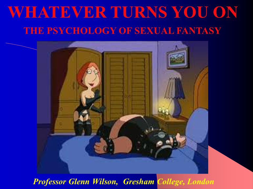 SEX = FRICTION + FANTASY Both physical and mental stimulation is necessary for arousal/satisfaction.