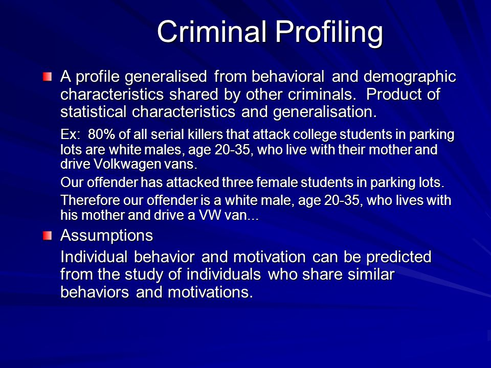THE ORGANIZED/DISORGANIZED OFFENDER The organized/disorganized offender is an FBI model.