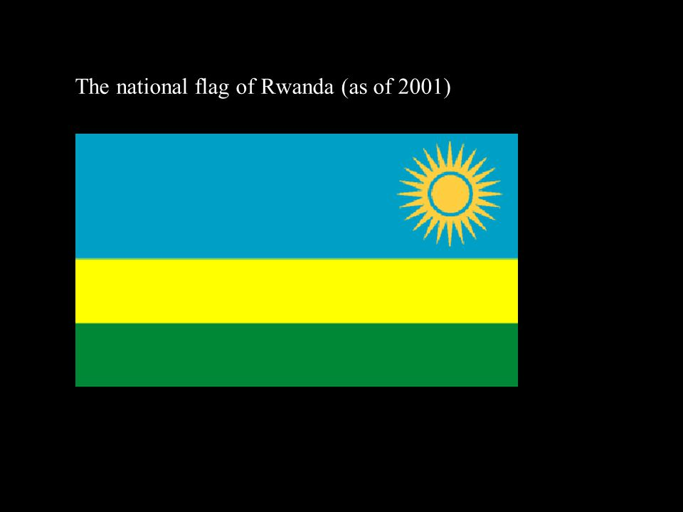 The national flag of Rwanda (as of 2001)‏
