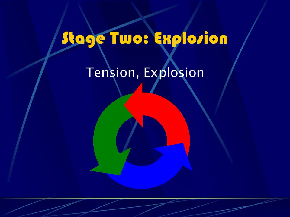 Stage Two: Explosion Tension, Explosion