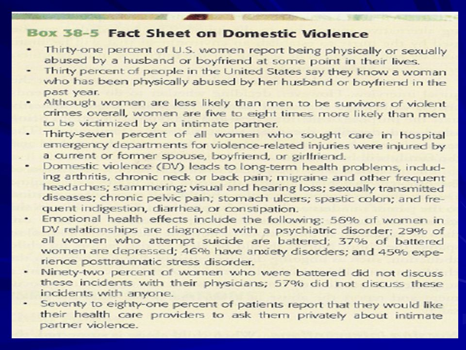 A woman is in most danger of homicide when she leaves her abusive partner or makes it clear to him that she is ending the relationship.