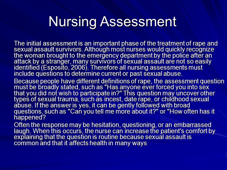 Nursing Care of the Sexual Assault Survivor