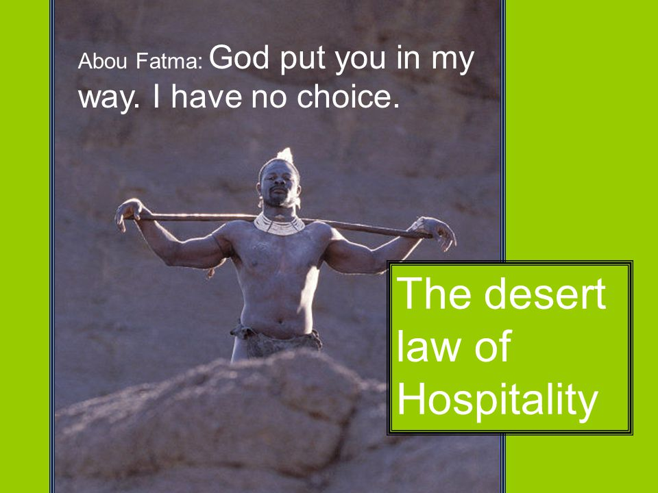 The desert law of Hospitality