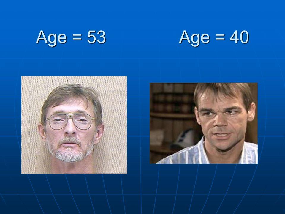 Age = 53 Age = 40