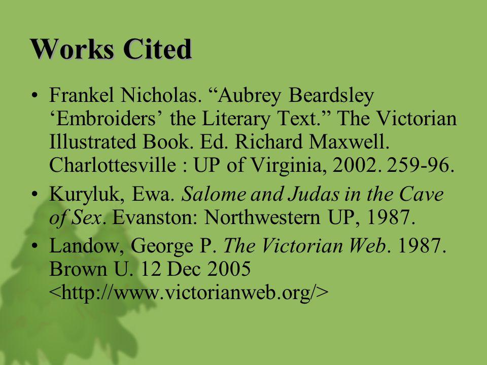 Works Cited Frankel Nicholas.