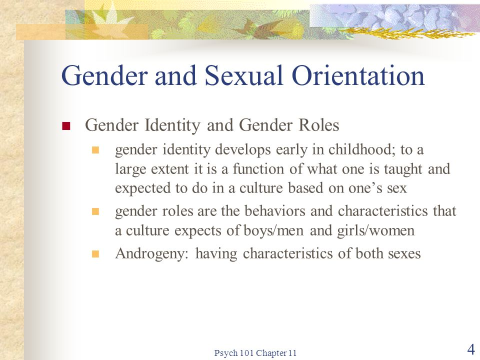 Psych 101 Chapter 11 25 Atypical/abnormal sexual behavior Transvestism and transsexualism transvestism: obtaining sexual pleasure by dressing in the clothes of the opposite sex transsexualism: being trapped in the body of the opposite sex with varying efforts to have one's physical anatomy changed to be that of the sex with which you identify hormone treatments transsexual surgery