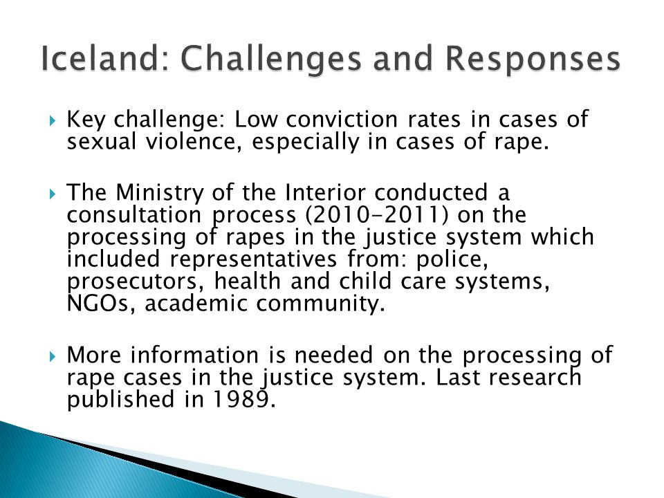 1.A) To establish the nature and features of reported rape cases in Iceland.