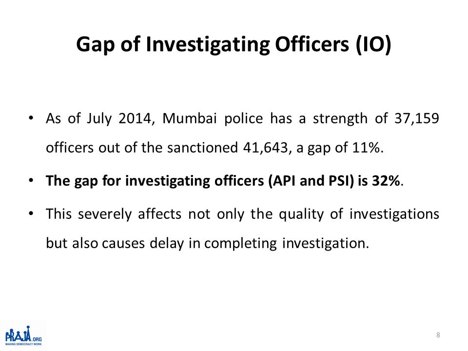 Gap of Officers in the control room (100/103) Control Room is short by 126 officers (again a gap of 47%).