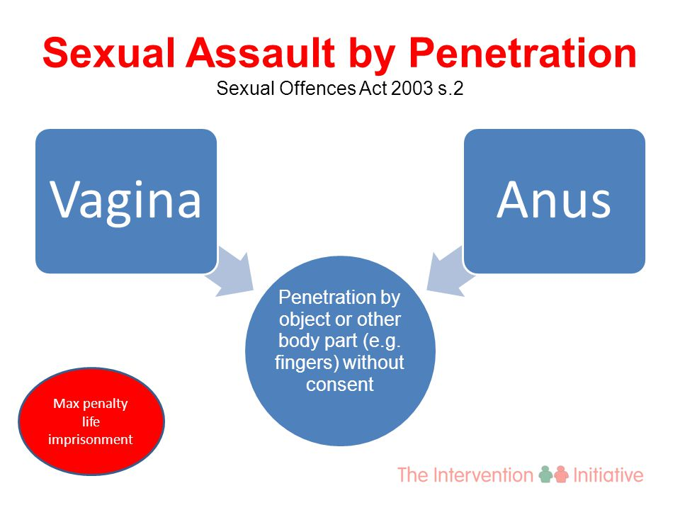 Sexual Assault by Penetration Sexual Offences Act 2003 s.2 Penetration by object or other body part (e.g.