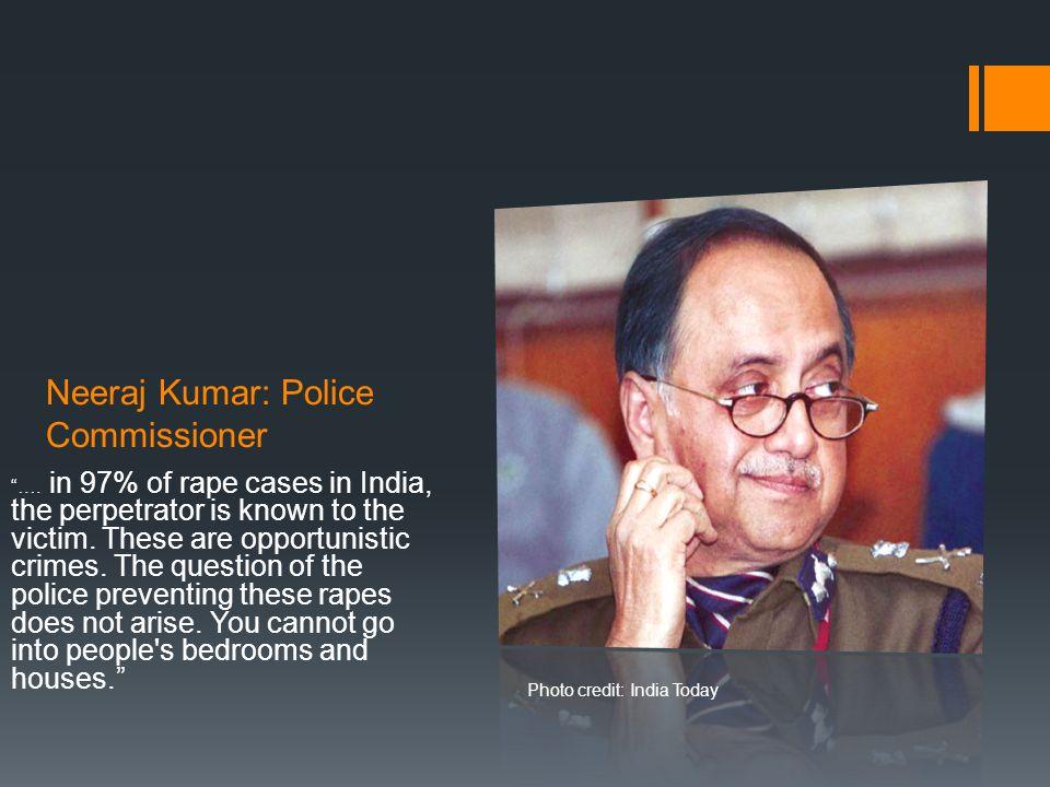 Neeraj Kumar: Police Commissioner ….