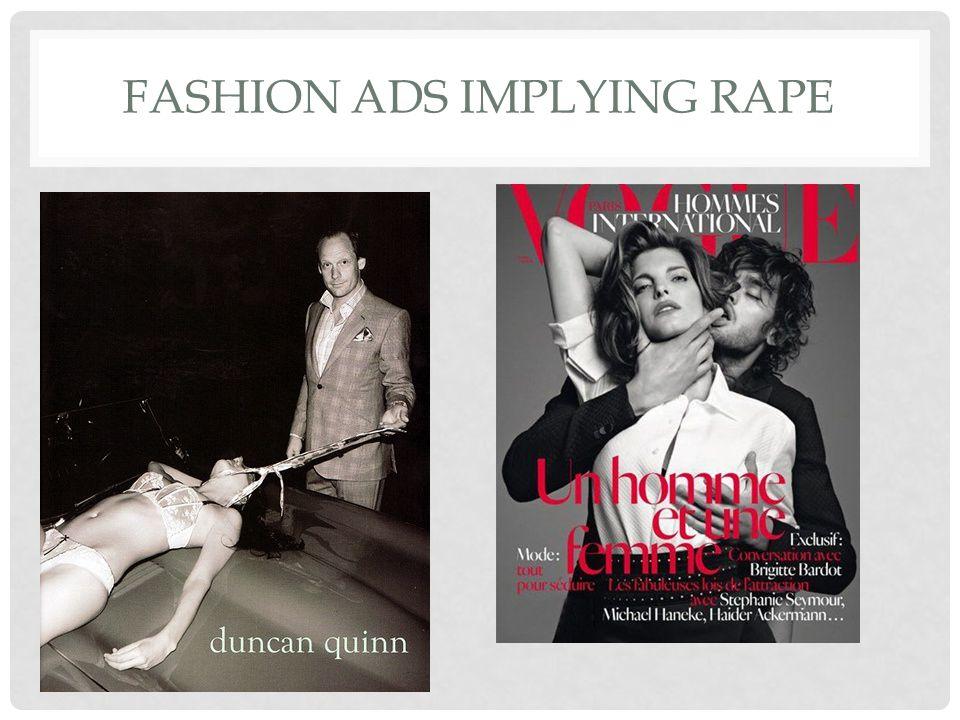 FASHION ADS IMPLYING RAPE