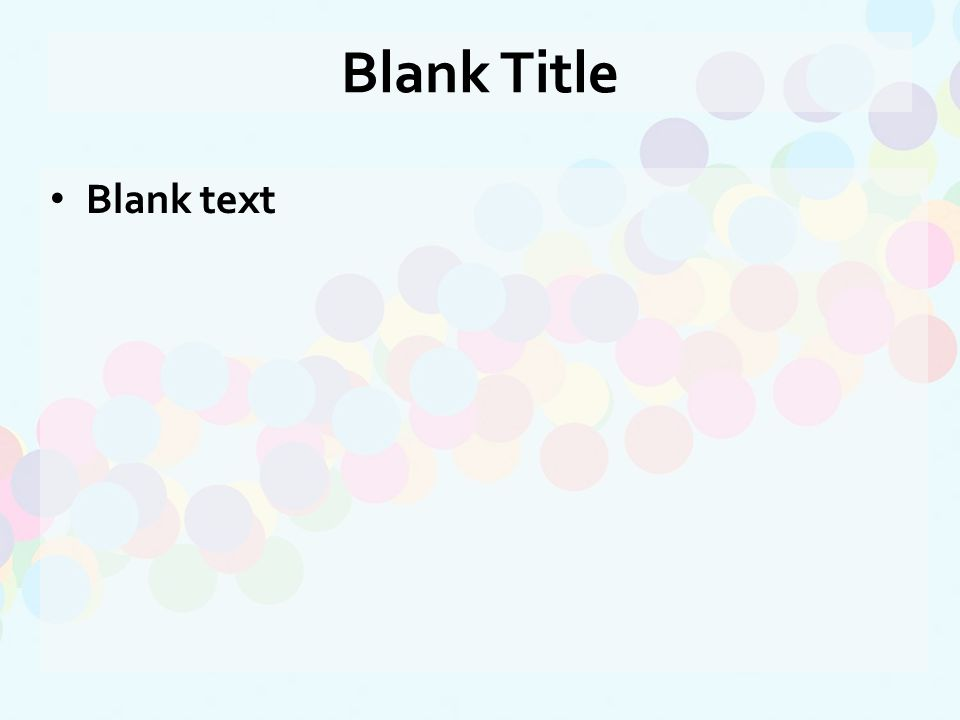 Blank text Blank Title