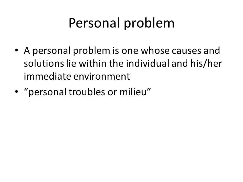 Personal vs.