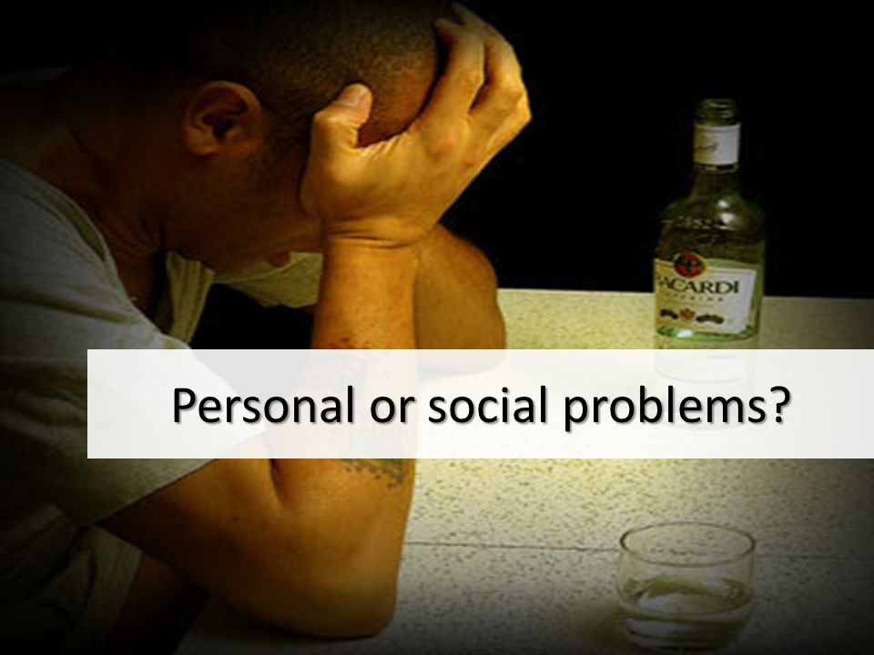 What do you think is the difference between personal and social problems?