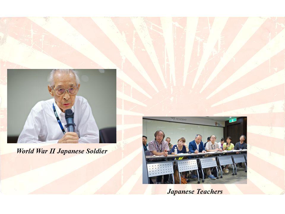 World War II Japanese Soldier Japanese Teachers