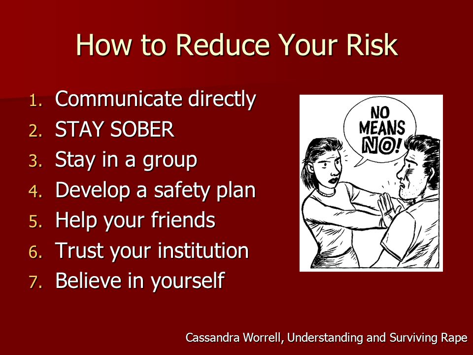 How to Reduce Your Risk 1. Communicate directly 2.