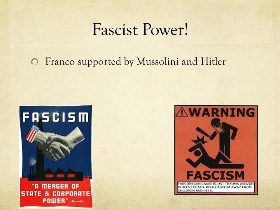 Fascist Power! Franco supported by Mussolini and Hitler